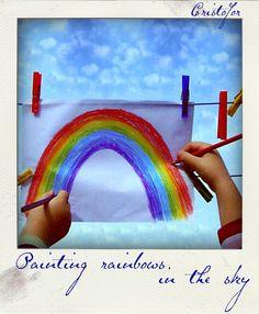 Polaroid. Children have rainbows in their hearts. Copyright ©Cristofor Arts/Cristina Schek