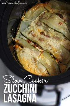 Slow Cooker Zucchini Lasagna. I think this might be even better than regular lasagna.