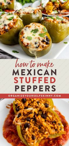 Taco Stuffed Peppers is a healthy Mexican-inspired recipe that's easy to make, and the whole family will love it! Seasoned ground turkey, black beans, salsa, and brown rice stuffed into a bell pepper for a perfectly portioned-out healthy dinner recipe. Make this Mexican stuffed pepper recipe on Sunday for the week, or freeze ahead for future meals. Organize Yourself Skinny Healthy Meal Prep Recipes | Easy Dinner Recipes | Healthy Weight-Loss Recipes Clean Dinner Recipes, Dinner Recipes Easy Quick, Beef Recipes For Dinner, Lunch Recipes, Family Recipes, Healthy Freezer Meals, Easy Healthy Dinners, Dinner With Ground Beef, Clean Eating