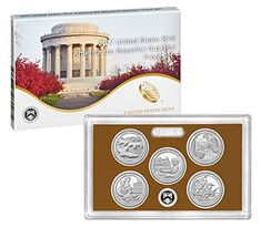 2017 S America the Beautiful 2017 Quarter Proof Set Complete With Box And COA Perfect Uncirculated
