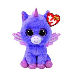 TY Beanie Boo Small Athena the Unicorn Soft Toy | A whirlwind of magic lifts me up to the sky, and then when I get there my wings let me fly.