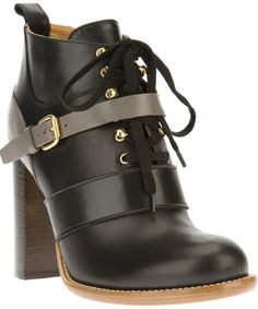 Chloé lace-up ankle boot on shopstyle.com.au