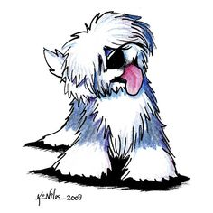 """""""Old English Sheepdog"""" -- by KiniArt artist, Kim Niles; all rights reserved."""