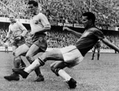Brazil 5 Sweden 2 in 1958 in Stockholm. Mario Zagallo makes it 4-1 on 66 minutes in the World Cup Final.
