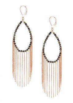 Icepinkim Earrings :: Icepinkim pink vermeil and green jasper Shining Rain earrings | Montaigne Market
