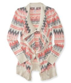 Zigzag Statement Cardigan Now at aeropostale for $27.25. I need!!!!!!!