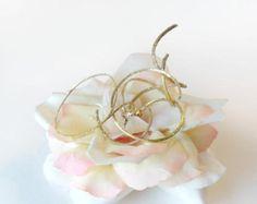 Bridal Hair Clip, Cream and Pink Rose, Flower Garden Wedding Accessory