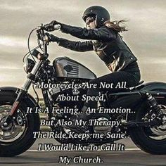 My Favorite Motorcycle Pictures and Memes Page 4 Easy Rider, Motorcycle Memes, Women Motorcycle Quotes, Motorcycle Girls, Hyabusa Motorcycle, Motorcycle Garage, Vespa, Scooters, Rider Quotes