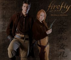 """Nathan Fillion AND Molly Quinn as Mal--heck yes! Comment: """"Has anyone else noticed that Molly Quinn is what Nathan Fillion and Christina Hendrix (Aka Mrs. Reynolds') kid would look like. Nathan Fillon, Firefly Series, Malcolm Reynolds, Molly Quinn, Castle Tv, Firefly Serenity, Joss Whedon, Celebs, Celebrities"""