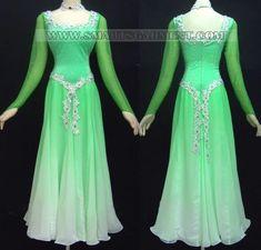 custom ballroom dress This kinda looks like princess Fiona's green dress from Sherk.