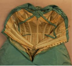 This is a 2 layer dress with a bustier inside and the shell of the dress on the outside. This bustier has boning but no padded bra cups. Instead they have inserted underwrite to hold the breasts up.