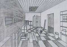 zentralperspektive | ... Zentralperspektive: Lagerraum | Schulkunst-Archiv Baden-Württemberg