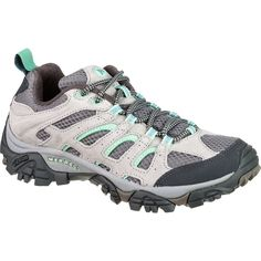 Merrell - Moab Ventilator Hiking Shoe - Women's - Drizzle/Mint Perfect for you KIM! Camping And Hiking, Hiking Gear, Hiking Shoes, Camping Gear, Backpacking, Autumn Fashion Classy, Shoes For Less, Hiking Essentials, Glamping