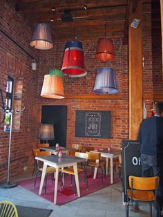 A serious place for coffee lovers! The Johan & Nyström Cafe and Roastery in the Katajanokka district offers a specialty coffee experience, as well as good selection of teas and delicious pastries. In addition to coffee, cafe also sells machines and other equipment. Photo: Elisabeth Heinrichs. #Finland #Helsinki #Katajanokka #Cafe #Roastery #Coffee #FoodHelsinkiHELYEAH