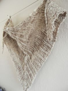 Morning Coffee Shawlette. Slip stitch pattern used. Adjustable to any size.