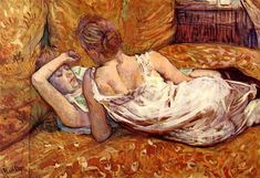 The two girlfriends by Henri De Toulouse-Lautrec, 1895