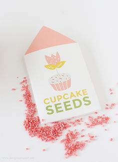 """Learn """"How to Grow A Cupcake"""" with these free springtime printables by Design Eat Repeat! Includes the instructions on how to create these """"..."""