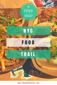 New York Food Trail: All the best places to eat in NYC. A list of all my favourite places to eat in each neighbourhood of Manhattan, New York City. Included is a free google map with over 200 recommendations of places to eat. Included are different cuisines such as Asian, Italian, Irish, Mexican, Bagels, Burgers, Pizza, Dessert etc. #food #newyork #newyorkcity #restaurants #pizza #burger #mapnewyork #map #dearpasserby #dessert #donuts