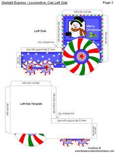 FREE Printabe Christmas 3-D Crafts - Starlight Express Train Set