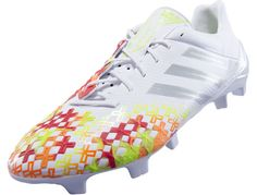 adidas Predator LZ TRX FG SL Soccer Cleats - White with Silver...Free Shipping...Available at SoccerPro Now!