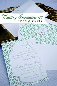 Top 5 wedding invitation mistakes. Click through to read!