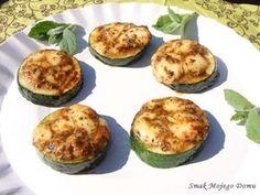 Smak Mojego Domu: Cukinia z grilla, z mozzarellą Cake Recipes, Snack Recipes, Snacks, Grill Party, Mozzarella, Baked Potato, Zucchini, Food Photography, Grilling
