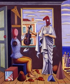 – Nikos Eggonopoulos The poet and his muse Painter Artist, Artist Art, Modern Art, Contemporary Art, Greece Painting, Hellenistic Period, National Gallery, Greek Culture, Call Art