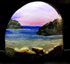 pebble art pebbleart painted rock stone ocean beach driftwood cove
