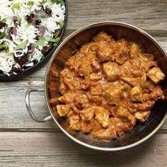 Frango ao curry e leite de coco