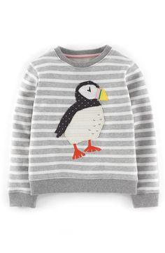 Mini Boden Applique Sweatshirt (Toddler Girls, Little Girls & Big Girls)
