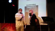 Konferencier Hamza Ftouni med Jimmy Wilhelmsson (Spelpappan)