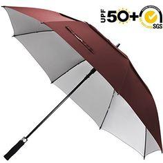 #beachaccessoriesstore ZEKAR 54/62/68 inch Windproof Large Vented Golf Umbrella, Include Classic UV Protection… #beachaccessoriesstore