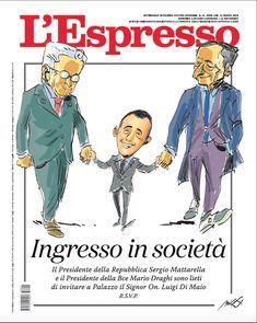 La copertina dell'Espresso firmata da Makkkox in edicola da domenica 11 marzo