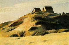 Corn Hill,  1930, by  Edward Hopper