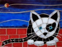 cat stain glass