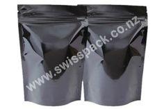 #Blackstanduppouches. Visit http://www.swisspack.co.nz/stand-up-pouches/