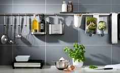 Maximise your kitchen wall space