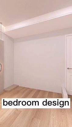 Small Room Design Bedroom, Bedroom Decor For Teen Girls, Bedroom Furniture Design, Modern Bedroom, Living Room Designs, Diy Furniture, Minimal House Design, Interior Design Videos, My New Room