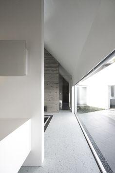 concrete, white and glass