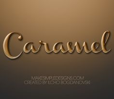 Easy and fun photoshop tutorial that will help you create a Caramel Text Effect in Photoshop. Photoshop Fonts, Photoshop Course, Photoshop Text Effects, Photoshop Tutorial, Chocolate Letters, Typography, Lettering, Creating A Blog, Illustration