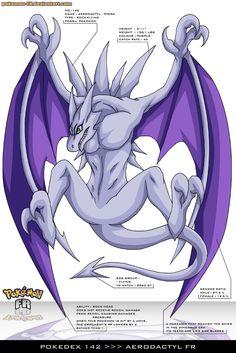 Pokedex 142 - Aerodactyl FR by Pokemon-FR on DeviantArt