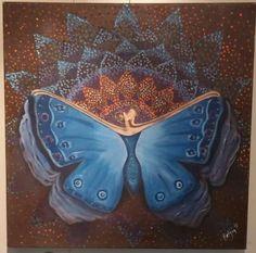 Tablomun adı dönüşüm,Kelebek,butterfy,mandala,zentangle,akrilik,art,painting,oilpainting,tasarım,ozgun