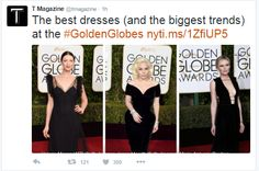 The New York Times The Best Dresses (and the Biggest Trends) at the Golden Globes 1/10/2016 ekh