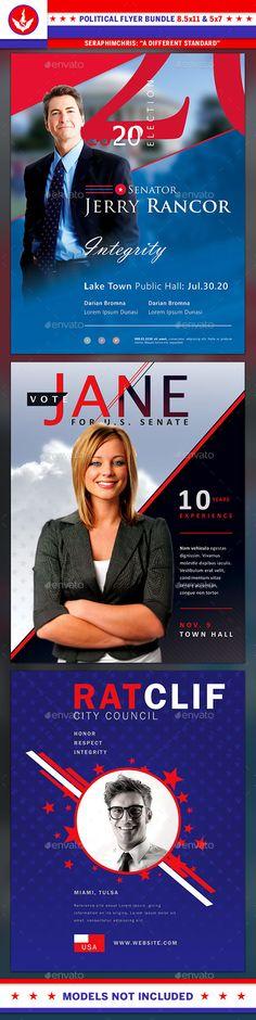 4 Of July Party Flyer Brochure  Flyer Designs Pinterest Party - political brochure