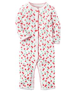 Baby Girl Cotton Snap-Up Footless Sleep  amp  Play Perfect for playtime 926342ab9