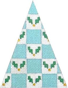 Melissa Shirley Designs | Hand Painted Needlepoint | Holly Checked Tree