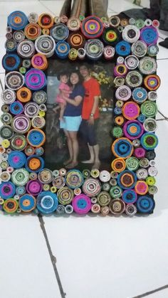 Diy Frame photo roll papper
