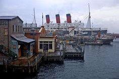 American Waterfront, as seen from the Electric Railway, Tokyo DisneySea.