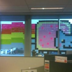 Bored at work?  Grab those Post It Notes and create!