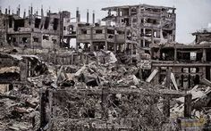 This photo is not form the world war, nor in Hiroshima , its in Gaza! #gaza   #israel   #idf